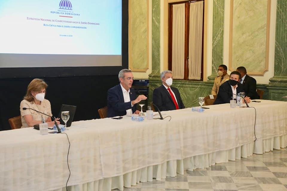 Abinader encabeza décima sesión Consejo Competitividad.